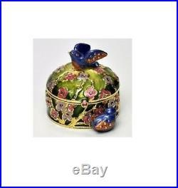 Estee Lauder Solid Perfume Compact Jay Strongwater Precious Birds Both Boxes