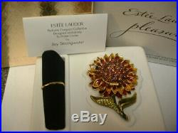 Estee Lauder Solid Perfume Compact Jay Strongwater Radiant Sunflower 2 Boxes