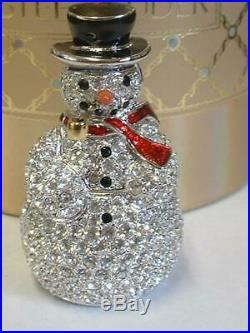 Estee Lauder Solid Perfume Compact Sparkling Snowman Both Boxes