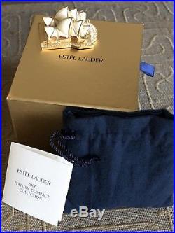 Estee Lauder Solid Perfume Compact Sydney Opera House 2006 RARE