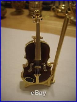Estee Lauder Solid Perfume Compact Violin in Both Boxes