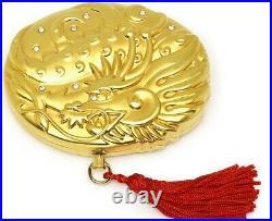Estee Lauder Solid Perfume Powder Compact Lucky Golden Dragon MIB
