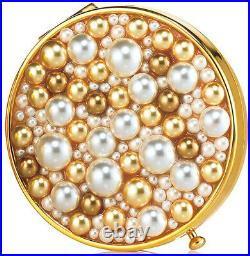 Estee Lauder Solid Perfume Powder Compact Sea of Pearls Mint Condition