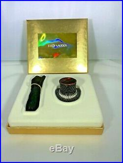 Estee' Lauder Top Hat Solid Perfume Dazzling Gold Fragrance Compact 2000 withbox