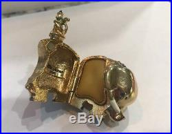 Estee Lauder perfume compact BEJEWELED ELEPHANT 2005 No Box