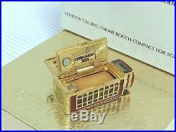 Harrods 1/400 Estee Lauder London Phone Solid Perfume Compact Vtg Rare Mib