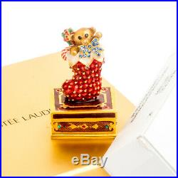 Holiday Stocking Estee Lauder Solid Perfume Compact Jay Strongwater Both Boxes