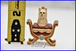 Jay Strongwater for Estee Lauder PAMPERED PUP Solid Perfume Compact 2005