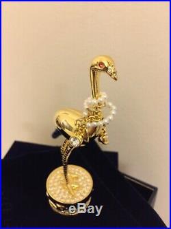 NIB Estee Lauder Solid Perfume Compact Pleasures Exotic Bird Collectible 2017