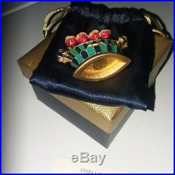 NIB New Estee Lauder Solid Perfume Compact Tulip Quartet Pleasures Perfume 2004