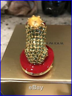 NIB Stunning Estee Lauder Solid Perfume Compact Loving Frog
