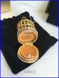 Nib Filled 2015 Estee Lauder Gilded Birdcage Tuberose Perfume Compact