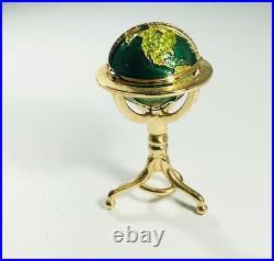 PROTOTYPE 2001 Estee Lauder- Pleasures WORLD GLOBE Solid Perfume Compact