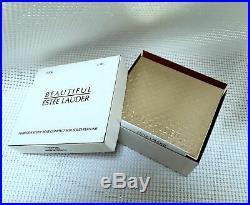 RARE 1/400 ESTEE LAUDER HARRODS WILLIAM BEAR SOLID PERFUME COMPACT Orig. BOXES