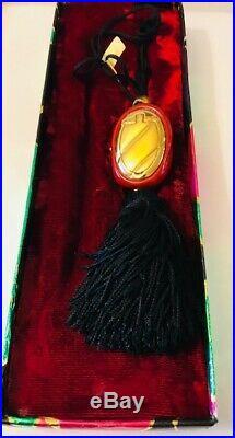 RARE 1978 Estee Lauder CINNABAR GINGER JEWEL Solid Perfume Compact ORIG. BOX