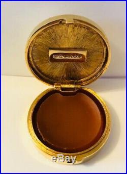 RAREFULL/UNUSED 1982 Estee Lauder CINNABAR IVORY CARVERS Solid Perfume Compac