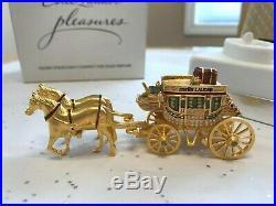 Rare Estee Lauder 2003 Gilded Stagecoach Solid Perfume Compact Mibb Pleasures