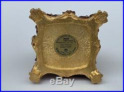 Rare Estee Lauder Jay Strongwater Hummingbird Floral Solid Perfume Compact