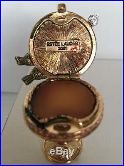 Retired Estee Lauder Birdbath Solid Perfume Compact, Collectible, 2001