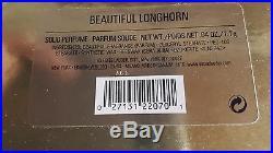 Swarovski, Estee Lauder beautiful Longhorn perfume Creme Compact