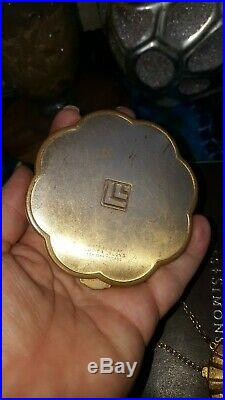 Vintage Estee Lauder LOT of 10 solid perfume compacts LL, E. L, Maxfactor, Avon etc