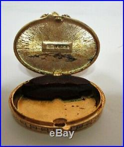 Vtg Estee Lauder Cinnabar Solid Perfume Compact Ivory Series Imperial Panda